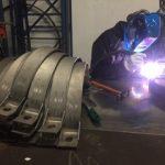 Colliers titane pour pipeline sous-marin